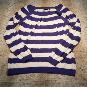 Martin + OSA Blue and White Lightweight Sweater